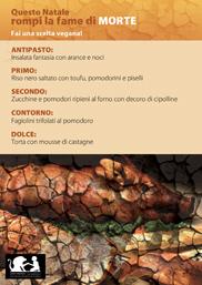 No al menu di carne Natalizio