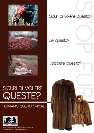 Campagna LIDA Firenze contro le pellicce